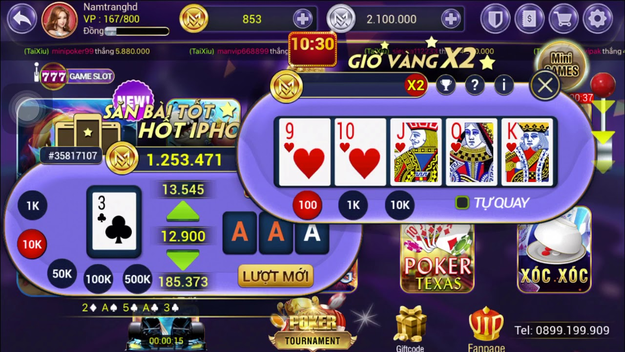 cách chơi game slot Mini Poker