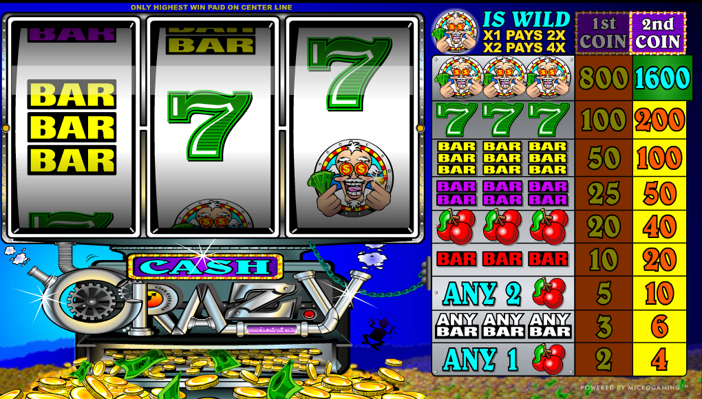 Luật chơi game slot Cash Crazy