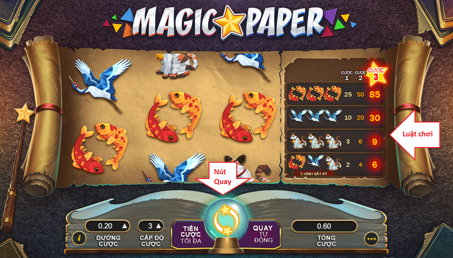 game slot Magic Paper