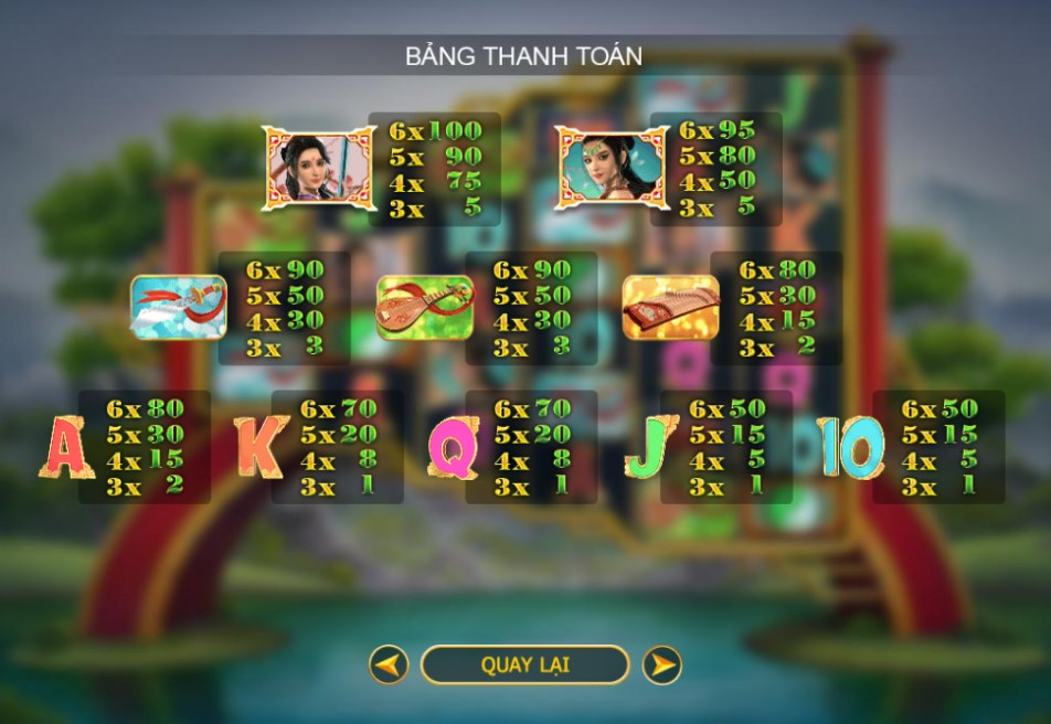 Game slot Wuxia Princess Mega Reels
