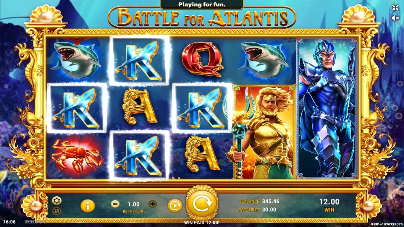 game slot Battle for Atlantis