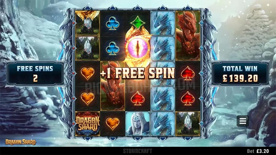 tính năng game slot Dragon Shard
