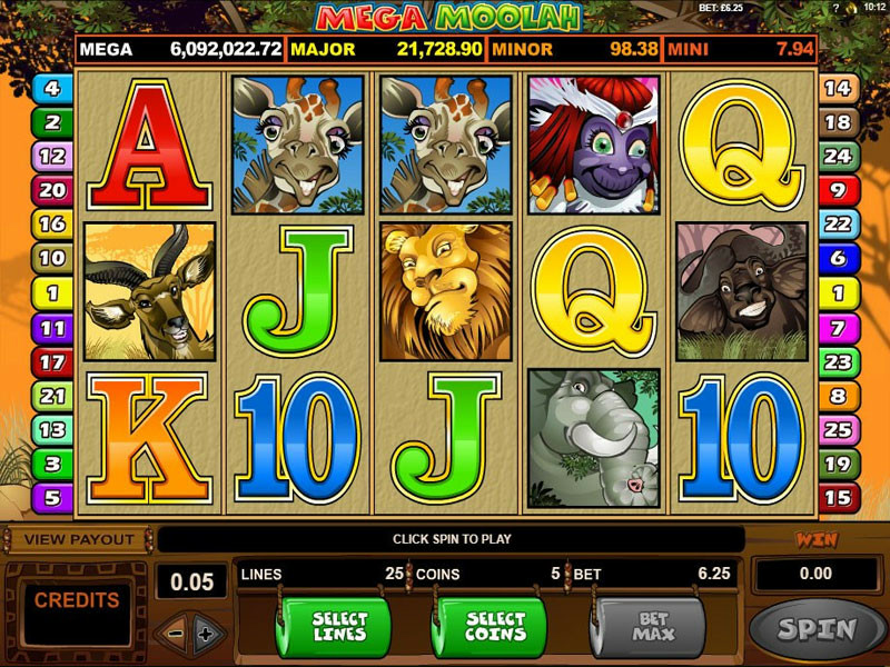 Game slot Mega Moolah