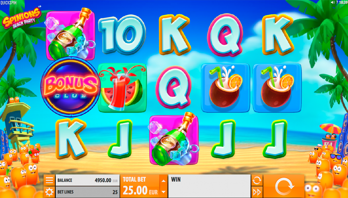 game slot Spinions Beach Party