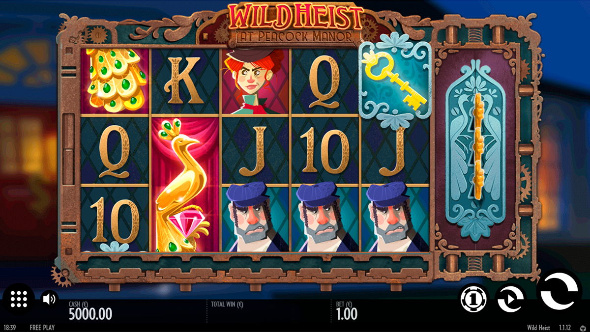 game slot Wild Heist at Peacock Manor